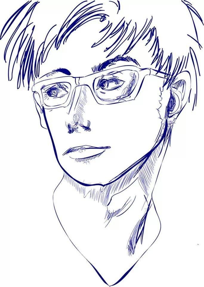 Crappy David Tennant Doodle