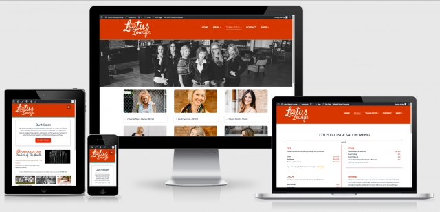 Lotus Beauty Lounge Responsive Website